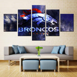 5 Panel Denver Broncos Modern Décor Canvas Wall Art HD Print.