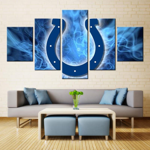 5 Panel Indianapolis Colts Modern Décor Canvas Wall Art HD Print.