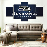 5 Panel Seahawks Seattle Modern Décor Canvas Wall Art HD Print.