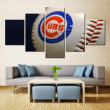 5 Panel Chicago Cubs Baseball Modern Décor Canvas Wall Art HD Print.