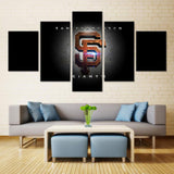 5 Panel San Francisco Giants Modern Décor Canvas Wall Art HD Print.