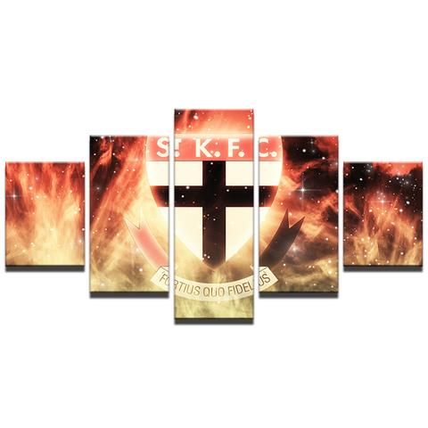 5 Panel St Kilda Modern Décor Canvas Wall Art HD Print.