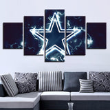 5 Panel Dallas Cowboy Modern Decor Canvas Wall Art HD Print