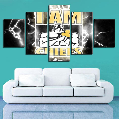Chiefs Football Team Modern Wall Pop Art Painting Prints Home Decor