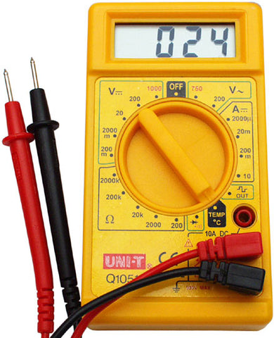 how do you hook up a multimeter to measure voltage