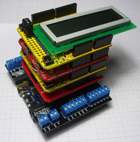 Stacking Arduino Shields | Freetronics