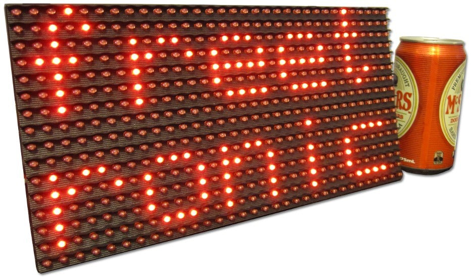 32x16 Red Dot Matrix Display | Freetronics
