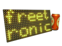 Yellow LED Dot Matrix Display Panel 32x16 (512 LEDs)