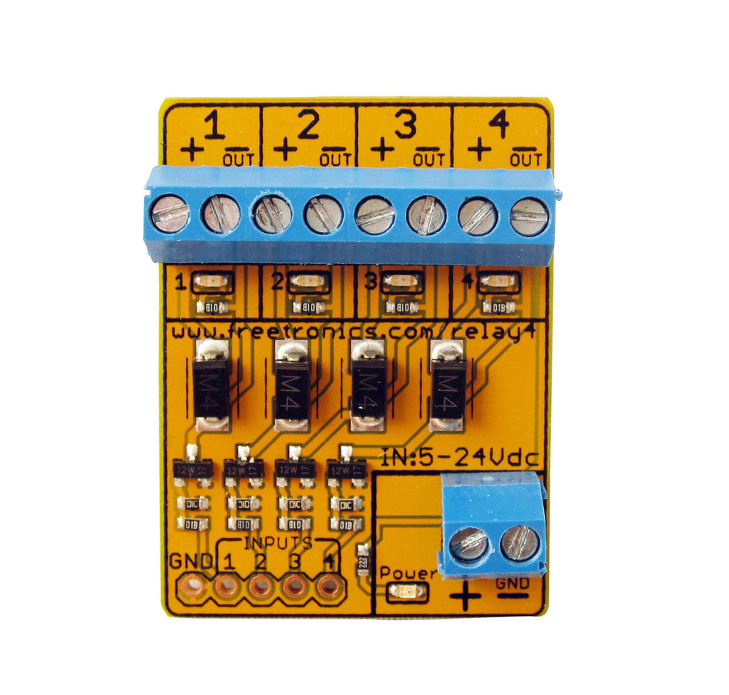 4 Channel Relay Driver Module Freetronics Current Drain