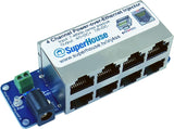 4-Channel Power-over-Ethernet Midspan Injector (Single Sided)