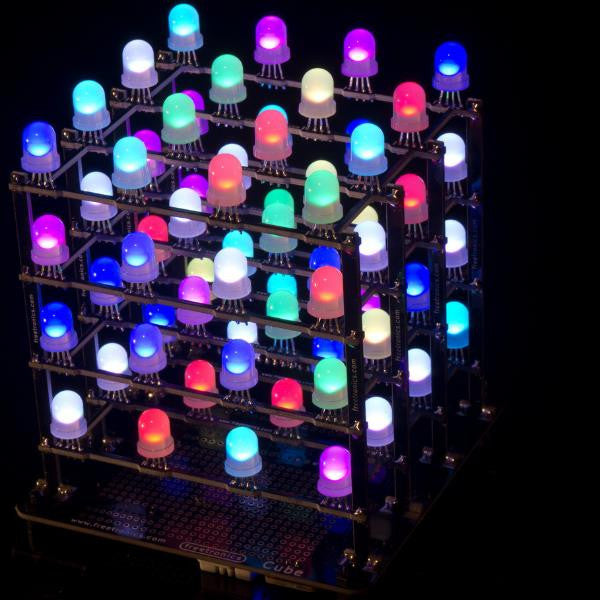 4x4x4 RGB LED cube kit | Freetronics