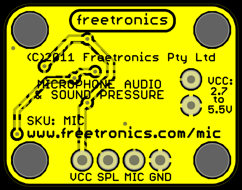 Microphone Sound Input Module | Freetronics
