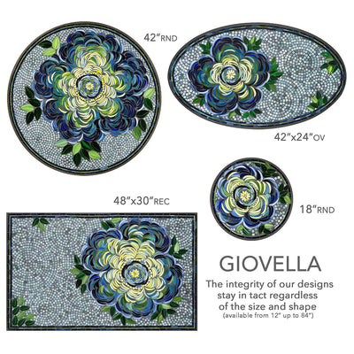 Giovella Mosaic Table Tops-Iron Accents