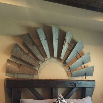 1/2 Windmill Wall Plaque | Iron Accents