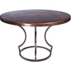Charles Dining Table with Dark Copper Top