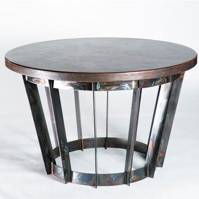 Dexter Dining Table with Dark Copper Top