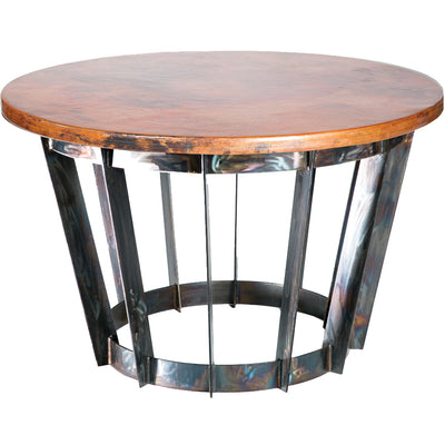 Dexter Dining Table with Copper Top