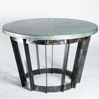 Dexter Dining Table with Zinc Top