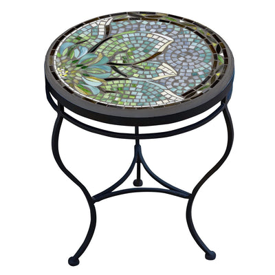 Lovina Mosaic Side Table-Iron Accents