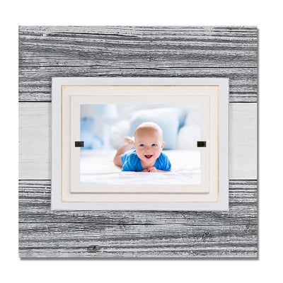 Weathered Wood Frame - White/Small