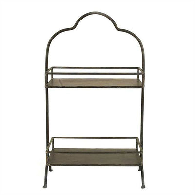 2-Tier Metal Tray | Iron Accents