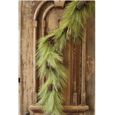 Long Needle Pine Garland with Cones