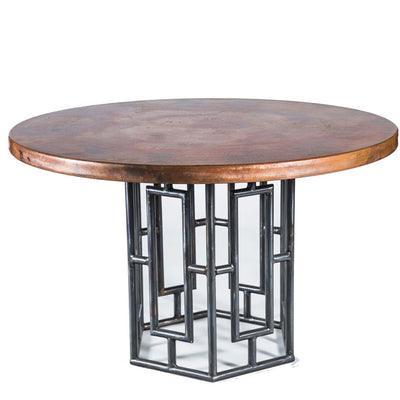 Hudson Dining Table with Copper Top