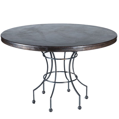 "Dominic Dining Table or Base for 42""-54"" Tops-Iron Accents"