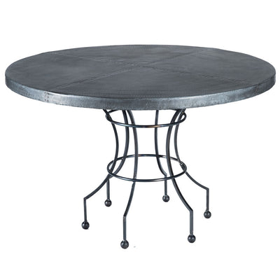 Dominic Dining Table with Zinc Top