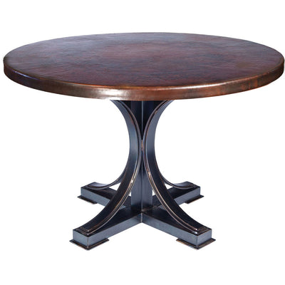 Winston Dining Table with Dark Copper Top
