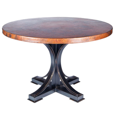 "Winston Dining Table with Copper Top"" Tops"