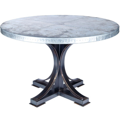Winston Dining Table with Zinc Top