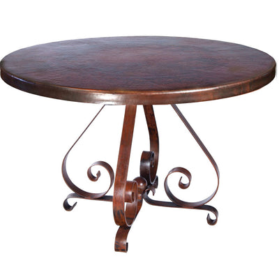 Pierre Dining Table with Dark Copper Base