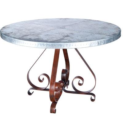 Pierre Dining Table with Zinc Base
