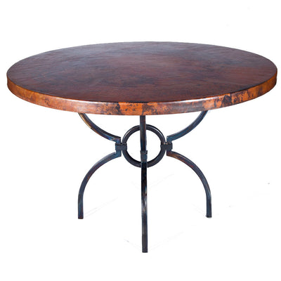 Logan Dining Table with Copper Top