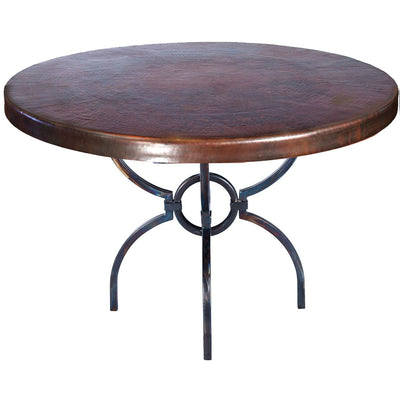 Logan Dining Table with Dark Copper Top