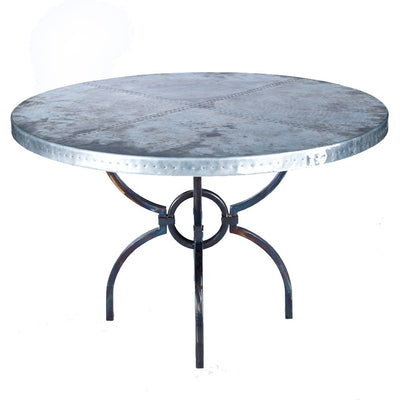 Logan Dining Table with Zinc Top