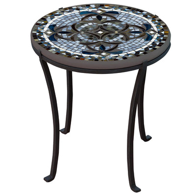 Roma Mosaic Chaise Table-Iron Accents