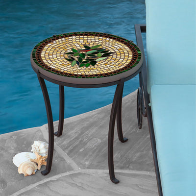 Finch Mosaic Chaise Table-Iron Accents
