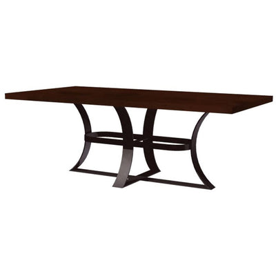 Avery Dining Table with Dark Copper Top