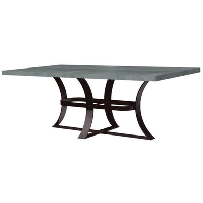 Avery Dining Table with Zinc Top