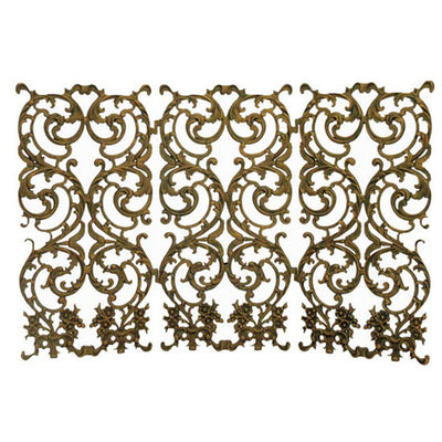 Bird of Paradise Fireplace Screen-Iron Accents