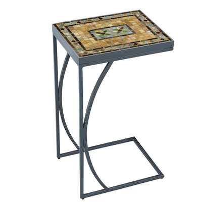 Malibu Mosaic C-Table-Iron Accents