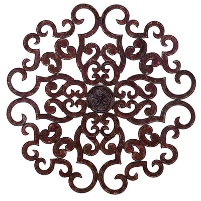 "38"" Scroll Wall Grill - Brown-Iron Accents"
