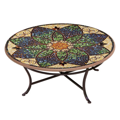 Monaco Mosaic Coffee Table-Iron Accents