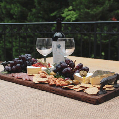 Rustic Charcuterie Boards-Iron Accents