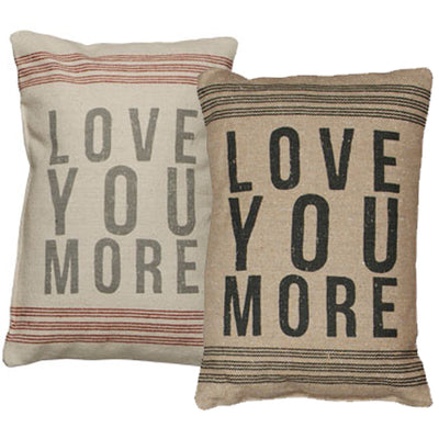 Red Stripe Pillow - Love You More