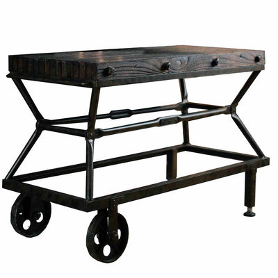 Cardiff Console Table or Base for 48x36 Top-Iron Accents