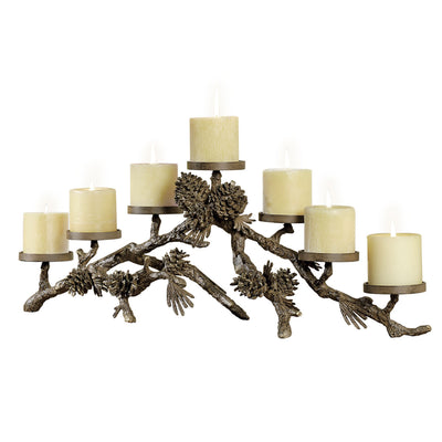 Pinecone Mantel Candle Holder