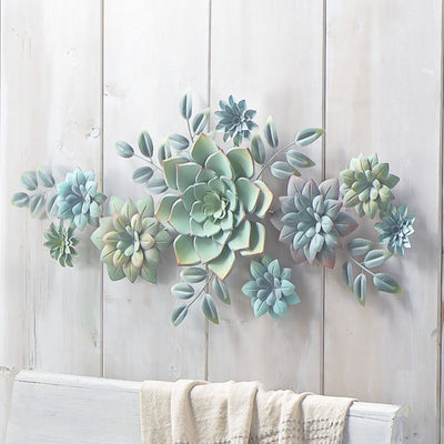 Layered Succulent Wall Decor
